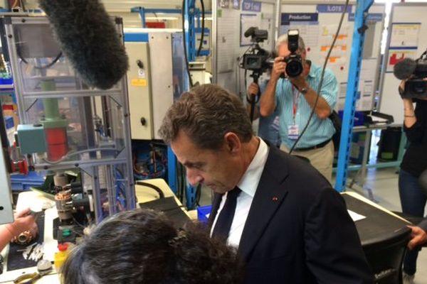 Visite de Nicolas Sarkozy dans une entreprise Vendomoise