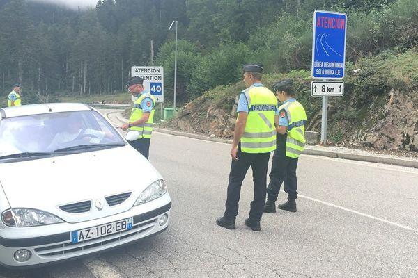 PAF, gendarmerie et Guardia Civile ensemble pour procéder aux contrôles routiers au Col du Portillon (31)