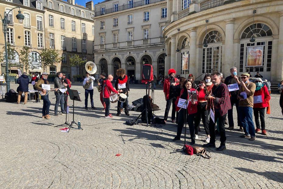 À Rennes, les artistes se mobilisent pour dire non à la loi Sécurité globale