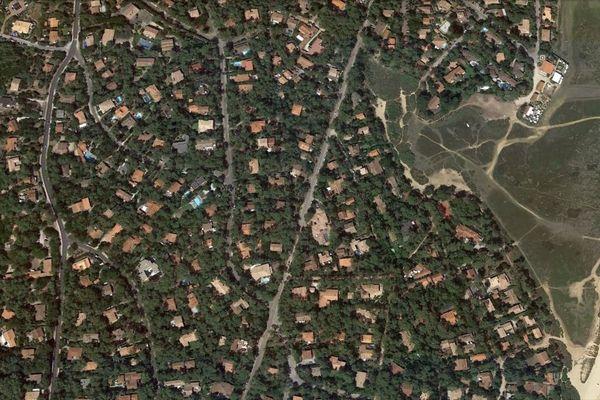 Le quartier du Mimbeau et de la Conche, au Cap Ferret, en 2017. En quelques années, de nouvelles maisons se sont implantées.