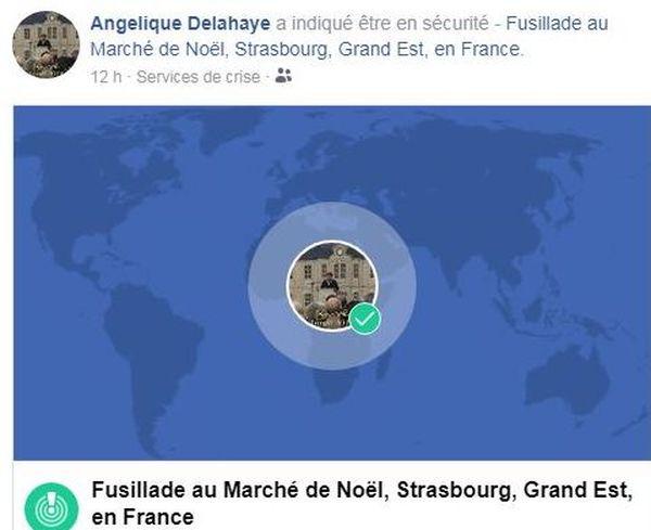 Angélique Delahaye se signale en sécurité à Strasbourg vers minuit