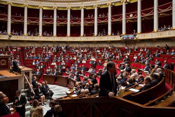 L'hémicycle de l'Assemblée nationale, à Paris.