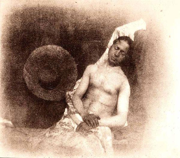 Le Noyé d'Hippolyte Bayard, un autoportrait de 1840.
