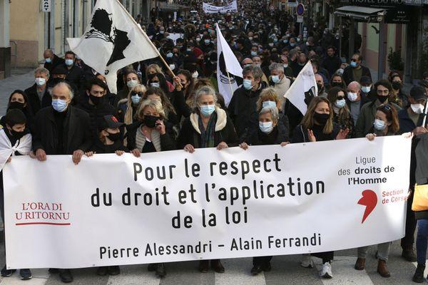 Le 30 janvier 2021, une manifestation était organisée à Corte pour demander le rapprochement de Pierre Alessandri et Alain ferrandi. Sans succès.