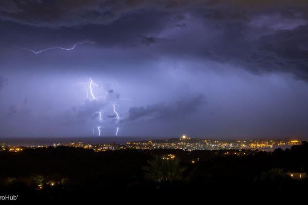 Orages dans les Alpes-Maritimes ce 20 septembre.