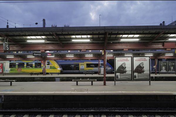 """Gare de Nancy, septembre 2021. """"Cet appel d'offre va obliger la SNCF à s'adapter"""", dit Louis Blaise de l'association des usagers de Lorraine."""