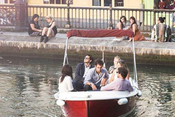 Balade en bateau sur le canal de l'Ourcq