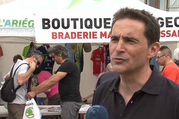 Patrice Vidal est l'organisateur de la compétition cyclosportive de l'Ariégeoise.