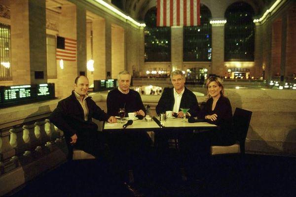 Antoine Mora, Jean Loiseau, Georges Pernoud, Juliette Lambot pour une émission spéciale àNew York.