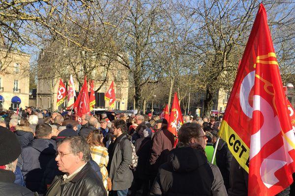 1 200 personnes ont défilé dans les rues de Dijon ce 5 février à l'appel de la CGT (ici sur la place Wilson).