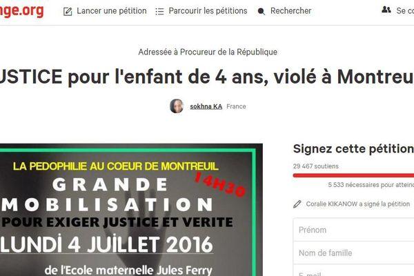 La pétition a recueilli près de 30.000 signatures.