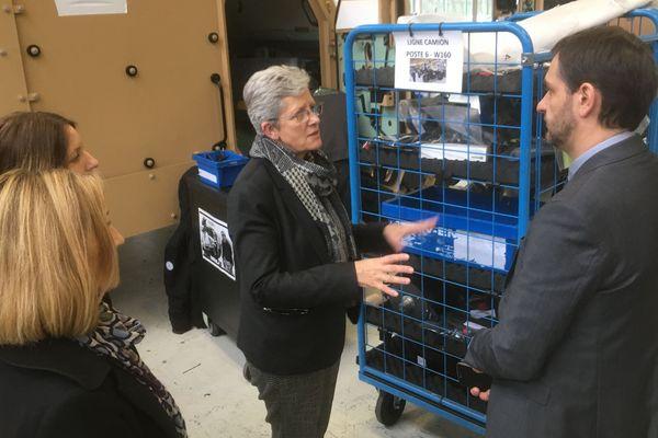 Geneviève Darrieussecq en visite au sein de deux entreprises limougeaudes ce lundi 17 février.