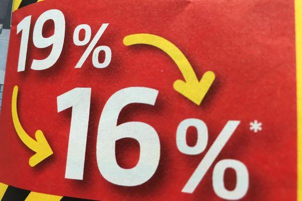 Une baisse de la TVA de 19 à 16% jusqu'à la fin de l'année 2020, pour relancer l'économie allemande, qui profite également aux frontaliers français.