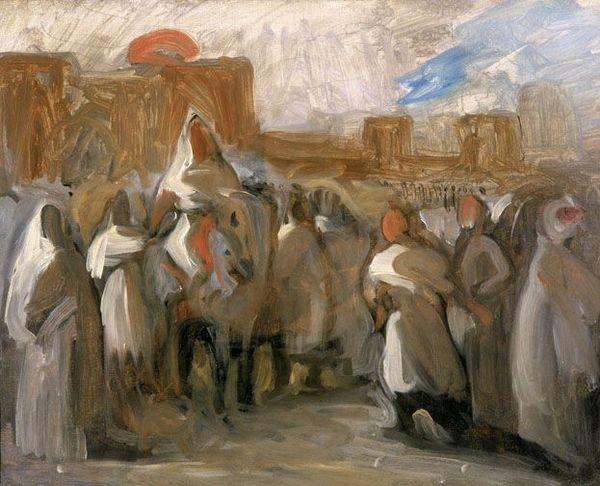 Le Sultan du Maroc Mulay-Abd-Er-Rahman recevant le comte de Mornay, ambassadeur de France / Eugène Delacroix