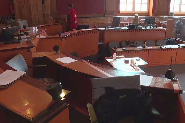 Toulouse - la salle d'audience de la cour d'Assises de la Haute-Garonne - mai 2021.