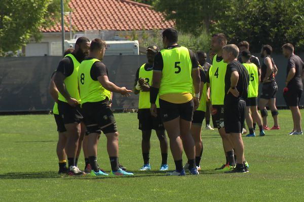 Atonio, Alldritt, Skelton, Sazy et Ronan O'Gara à l'entraînement ce lundi.