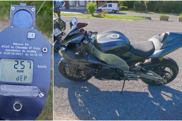 La moto roulait dans la Marne à 257km/h sur une route départementale.