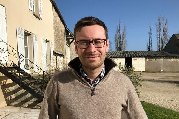 Edouard Billard, céréalier à Intréville (Eure-et-Loir)