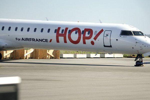 Un avion Hop !, filiale d'Air France - illustration