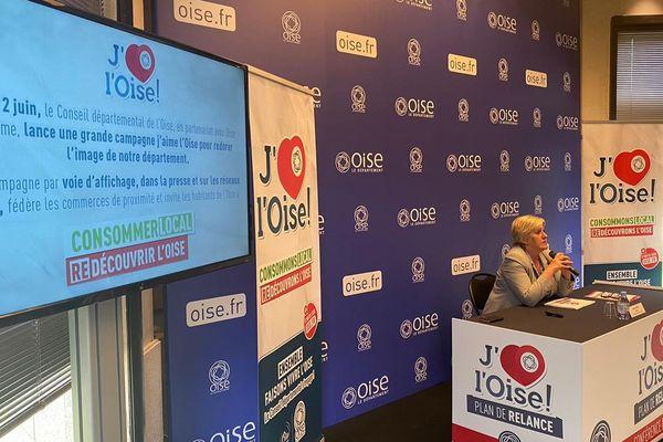 La présidente du Conseil départemental de l'Oise, Nadège Lefebvre, présente le plan de relance du département lundi 29 juin 2020