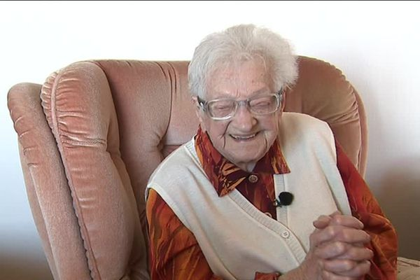 Charlotte Delpierre, 108 ans. Souriante doyenne du Boulonnais
