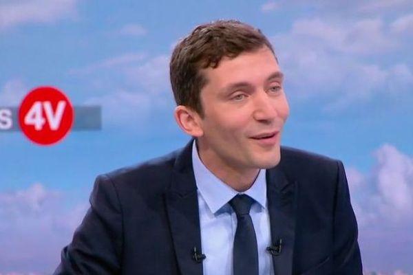 Julien Sanchez - le porte-parole du Rassemblement National invité des 4 vérités sur France 2 - 15 juin 2018.