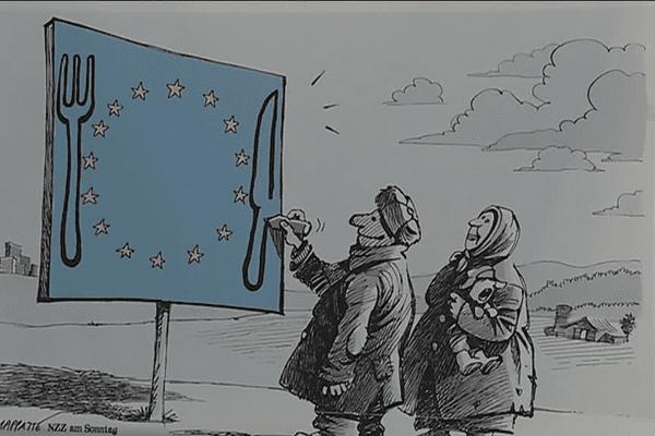 """""""Décoder les étoiles"""", dessins de presse sur l'Europe"""
