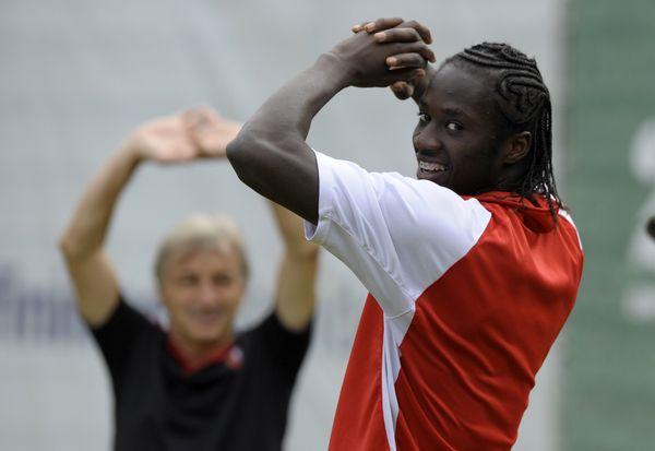 Eder à l'entraînement, en septembre 2012, avec son nouveau club de Braga