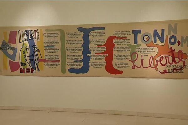 """Le célèbre poème """"Liberté j'écris ton nom"""" de Paul Eluard, illustré par Fernand Léger."""