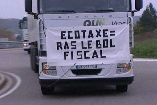 routiers en colère, avec un message clair