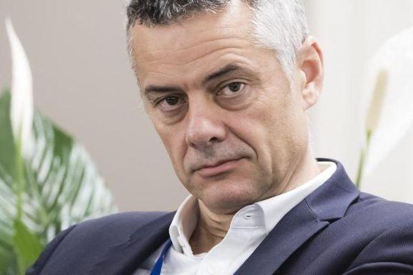Frédéric Duval, directeur général d'Amazon France, le 22 octobre 2019 à Brétigny dans l'Essonne