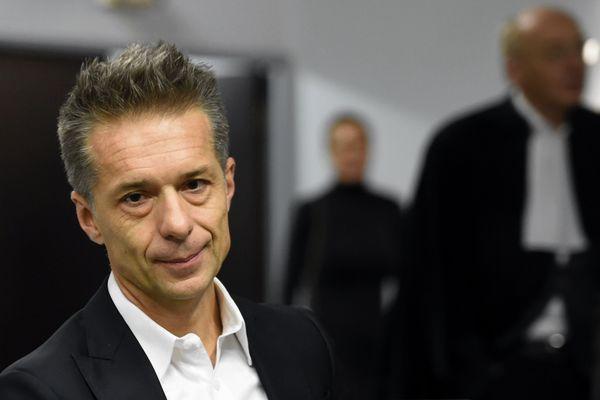 Jean-Christophe Breuil, ex-PDG du géant du jouet SMOBY, au Tribunal de grande instance de Nancy le 7 octobre 2019, où il est poursuivi pour 16 infractions, notamment des abus de biens sociaux. L'accusation chiffre ces détournements à 10 millions d'euros entre 1999 et 2008.