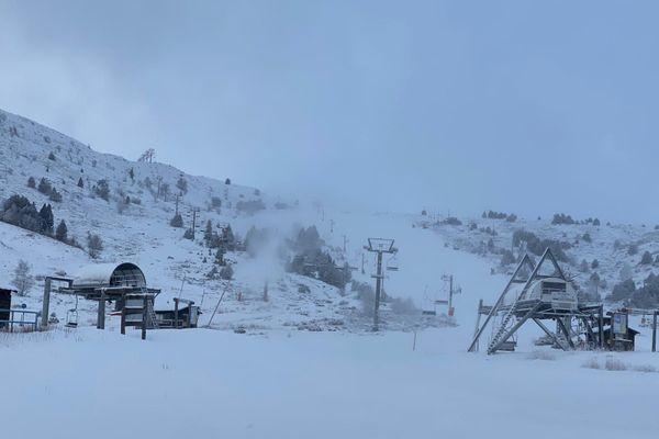Au bas des pistes de la Vignolle à Porté-Puymorens ce mardi mardi matin