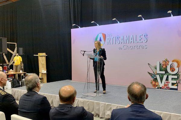 11/10/2019. Agnès Pannier-Runacher, Secrétaire d'Etat auprès du ministre de l'Economie et des Finances à Chartres aux 4e Rendez-vous de l'Artisanat.