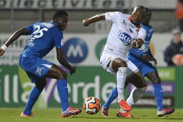 Christian Bekamenga avait inscrit le seul but de la rencontre face à Niort, le 29 novembre 2013.