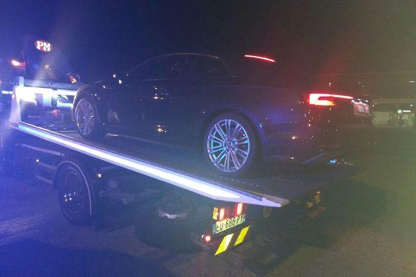 Conducteur contrôlé à 194 km/h, sa voiture a été confisquée sur-le-champ.