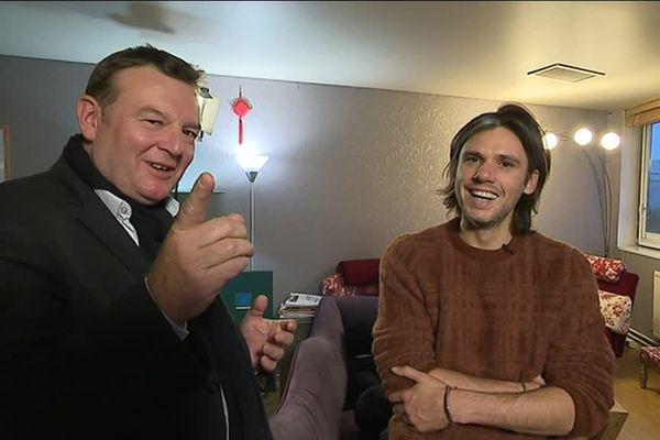 Orelsan et Jacques Perrotte avant le concert de ce 22 novembre au zénith de Caen