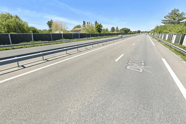 L'accident s'est produit sur cette portion de la RD820, à hauteur de la commune de Labarthe-sur-Lèze (Haute-Garonne)