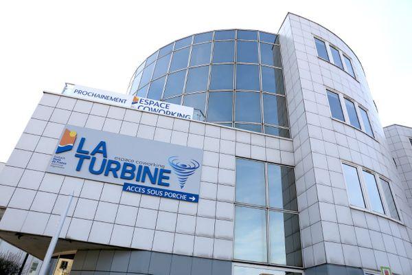 Le bâtiment qui accueille l'espace de coworking la Turbine à Forbach.