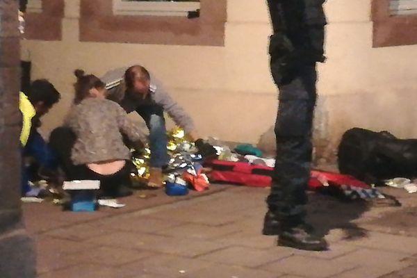 Soins portés à un blessé de l'attentat de Strasbourg, mardi 11 décembre 2018.