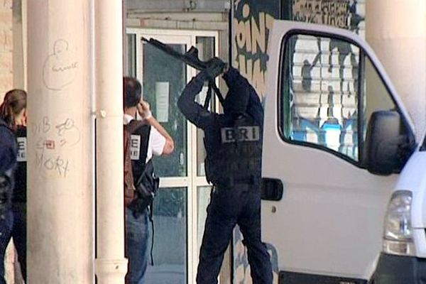 Montpellier - opération de police dans le quartier de La Paillade - 11 juin 2013.