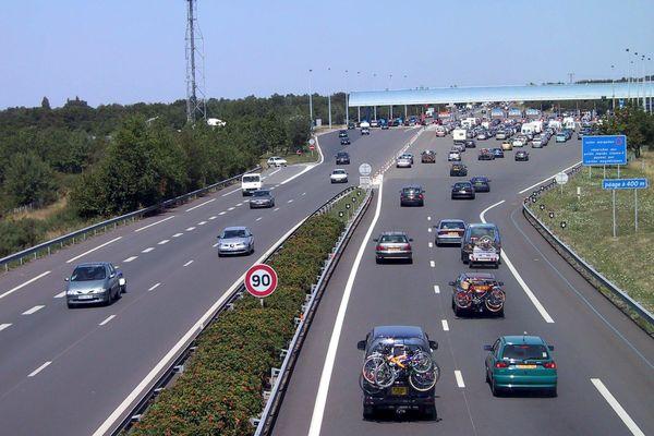 L'autoroute A83 au sud de Nantes