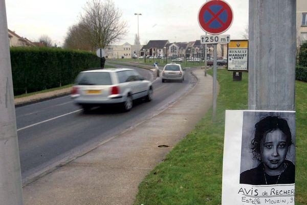 Estelle Mouzin a disparu à Guermantes, où des avis de recherche ont été placardés après sa disparition le 9 janvier 2003.