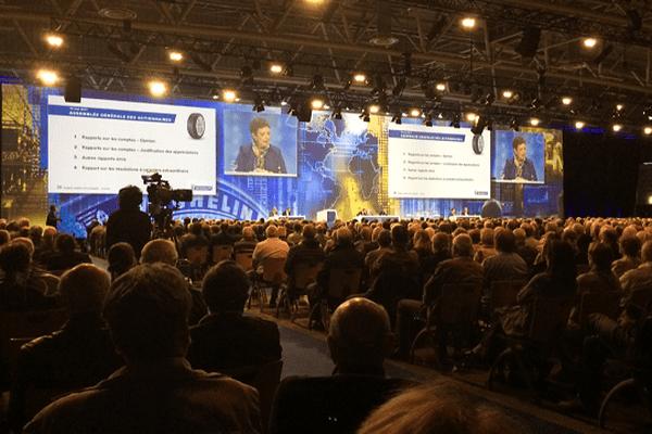 1 650 actionnaires ont assisté à l'assemblée générale du groupe Michelin, au Polydôme, le 19 mai 2017.
