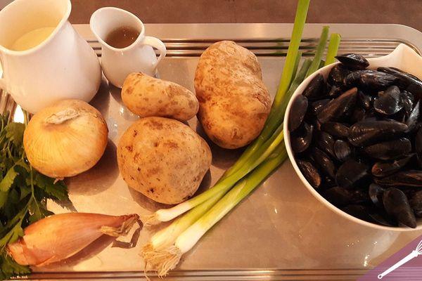 Les ingrédients des moules-frites revisitées
