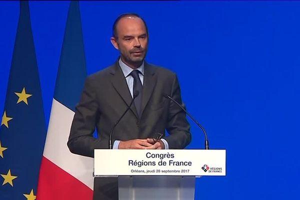 Edouard Philippe au congrès des régions - Orléans (Loiret) - 28 sept 2017