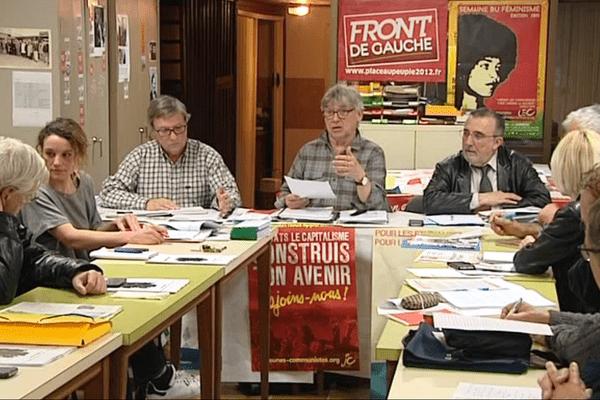 Réunion hebdomadaire au local du parti communiste d'Ajaccio