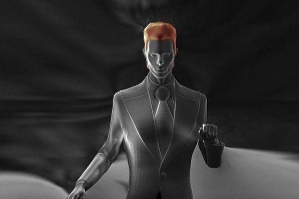 Ce personnage mesure 300 microns de haut, soit 0,3 mm. De la taille d'une poussière, il est quasiment invisible à l'œil nu.