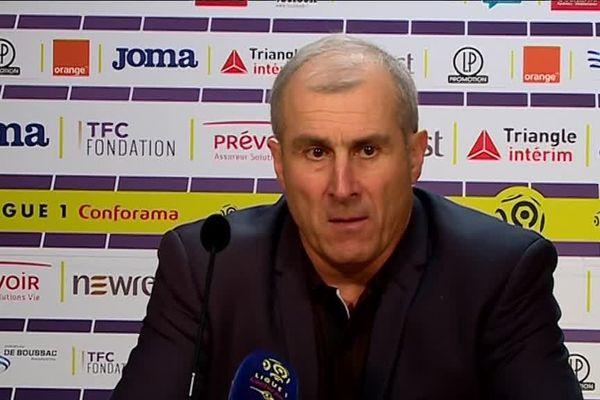 """""""On a manqué de réalisme"""", a reconnu l'entraîneur du TFC Alain Casanova."""