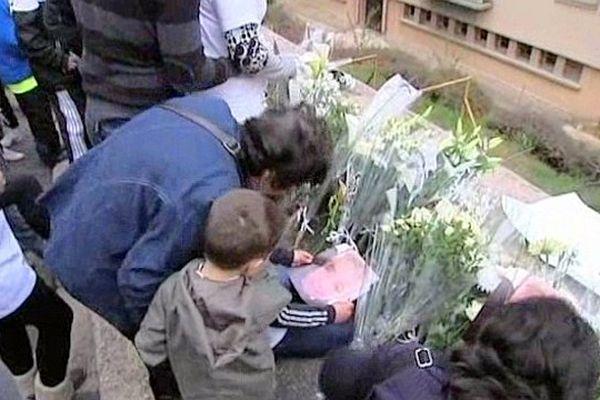 Mende - hommage à David tué accidentellement par arme à feu le 4 avril 2012